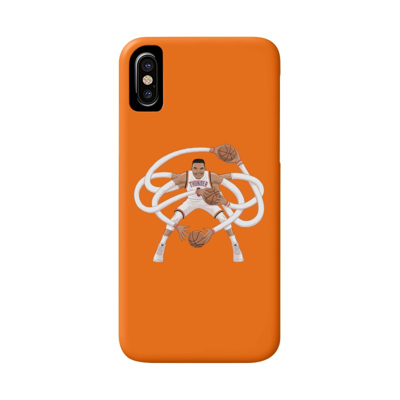 """Russell """"Mr. Triple Double"""" Westbrook - Home kit Accessories Phone Case by dukenny's Artist Shop"""