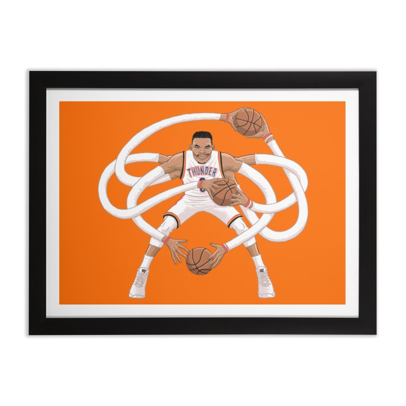 "Russell ""Mr. Triple Double"" Westbrook - Home kit Home Framed Fine Art Print by dukenny's Artist Shop"