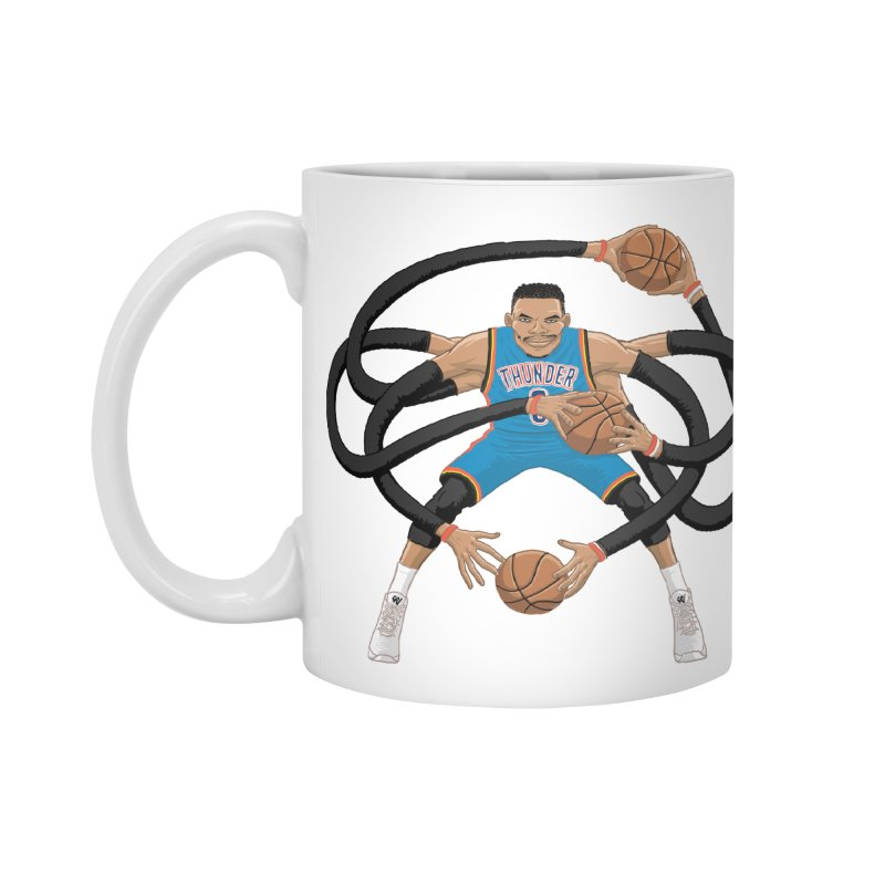 "Russell ""Mr. Triple Double"" Westbrook - road kit Accessories Mug by dukenny's Artist Shop"