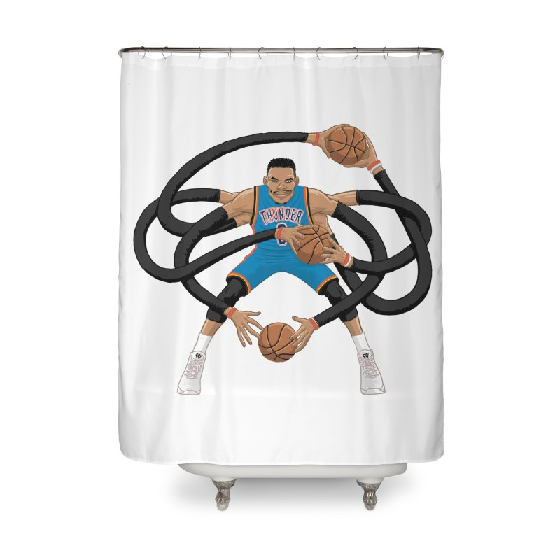 "Russell ""Mr. Triple Double"" Westbrook - road kit Home Shower Curtain by dukenny's Artist Shop"