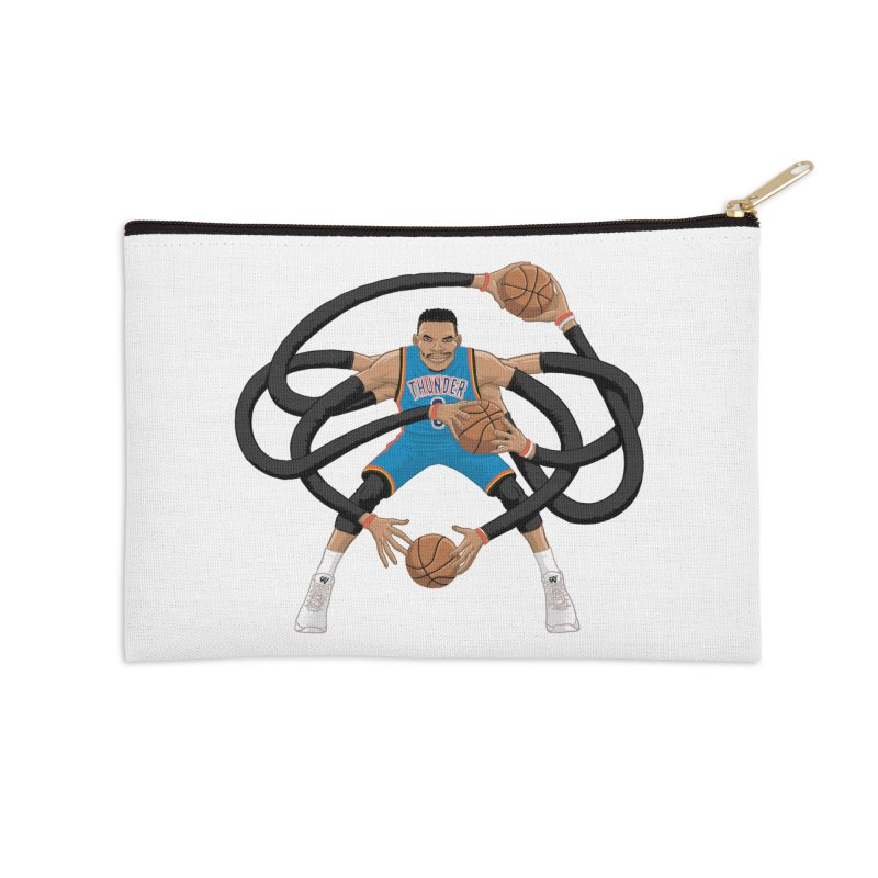 "Russell ""Mr. Triple Double"" Westbrook - road kit Accessories Zip Pouch by dukenny's Artist Shop"