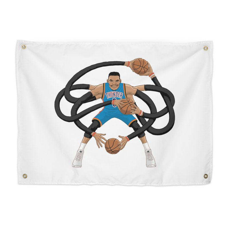 "Russell ""Mr. Triple Double"" Westbrook - road kit Home Tapestry by dukenny's Artist Shop"