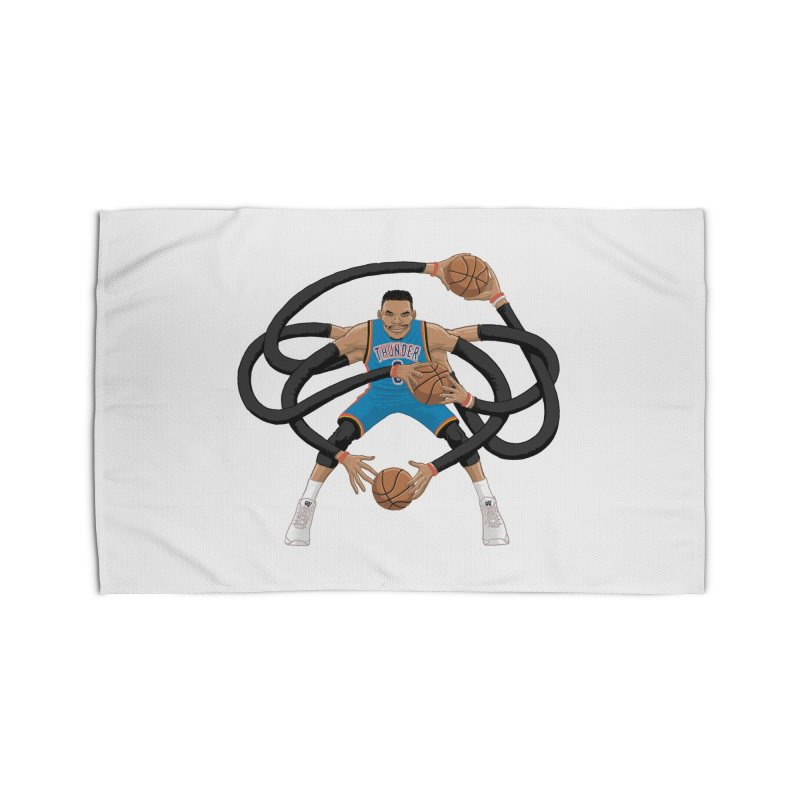 "Russell ""Mr. Triple Double"" Westbrook - road kit Home Rug by dukenny's Artist Shop"