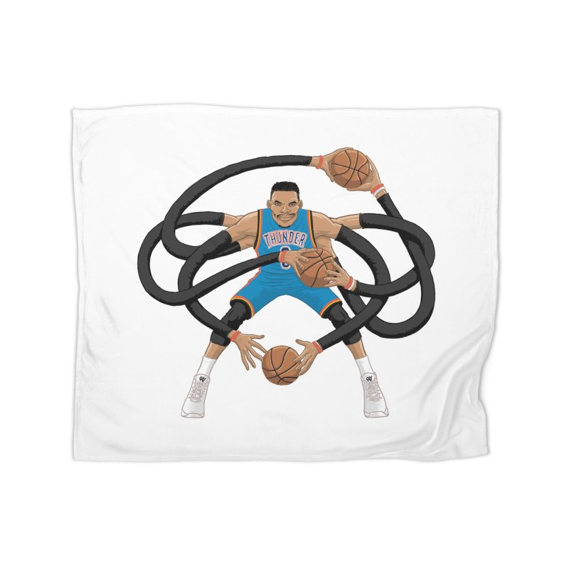 "Russell ""Mr. Triple Double"" Westbrook - road kit Home Blanket by dukenny's Artist Shop"