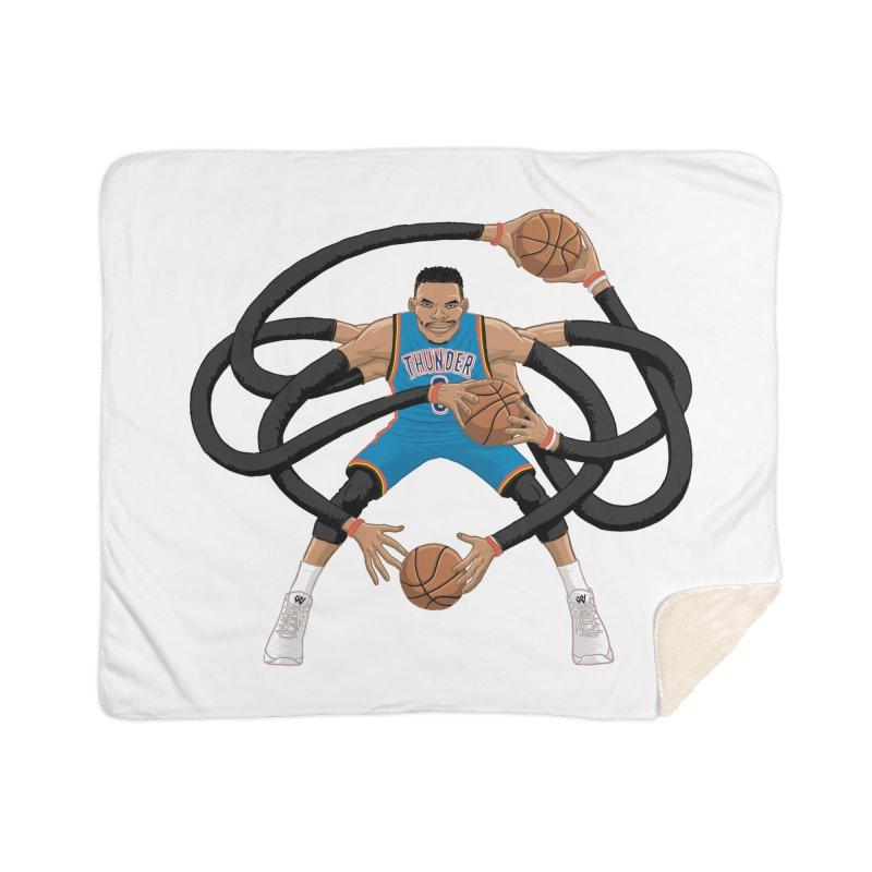 """Russell """"Mr. Triple Double"""" Westbrook - road kit Home Sherpa Blanket Blanket by dukenny's Artist Shop"""