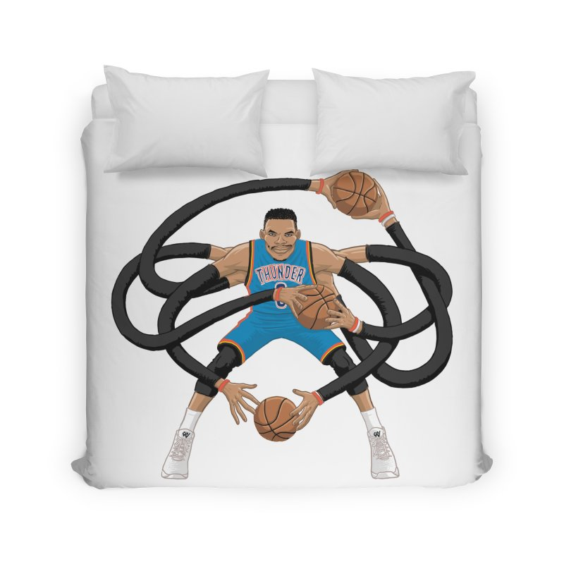 "Russell ""Mr. Triple Double"" Westbrook - road kit Home Duvet by dukenny's Artist Shop"