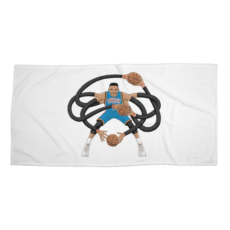 "Russell ""Mr. Triple Double"" Westbrook - road kit Accessories Beach Towel by dukenny's Artist Shop"