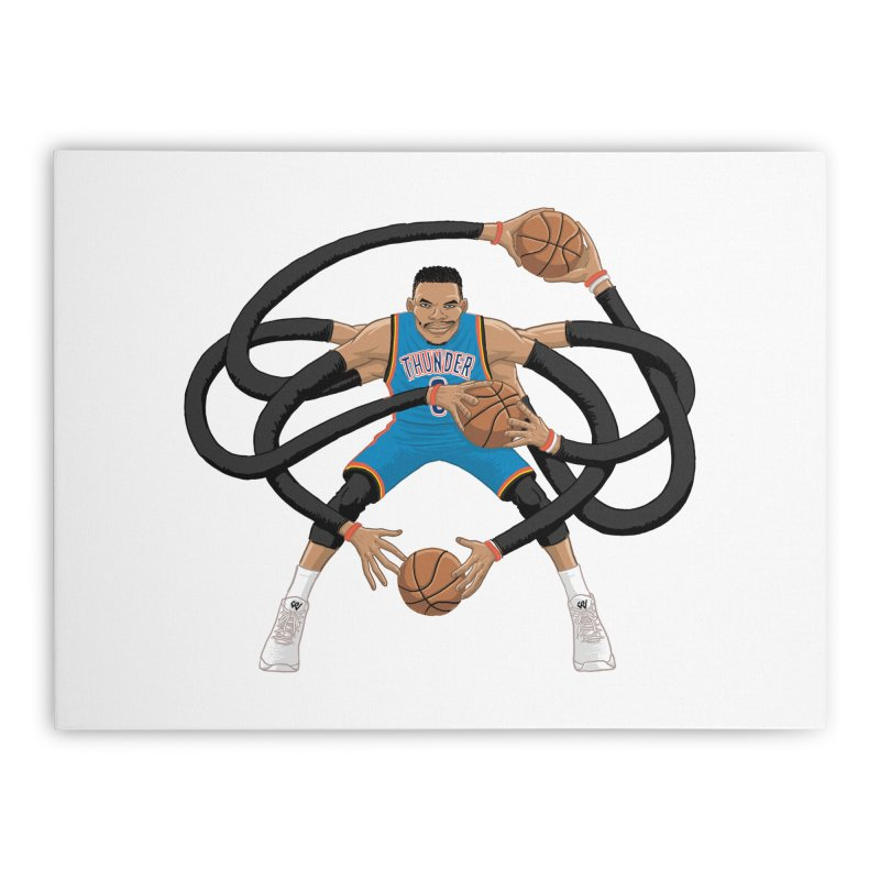 """Russell """"Mr. Triple Double"""" Westbrook - road kit Home Stretched Canvas by dukenny's Artist Shop"""