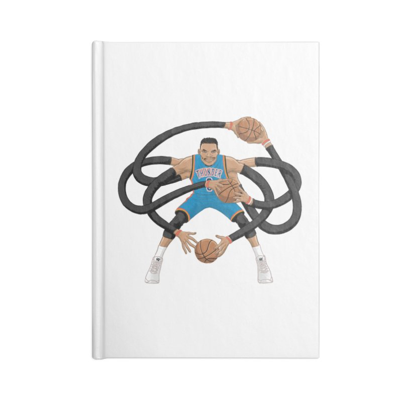 "Russell ""Mr. Triple Double"" Westbrook - road kit Accessories Blank Journal Notebook by dukenny's Artist Shop"