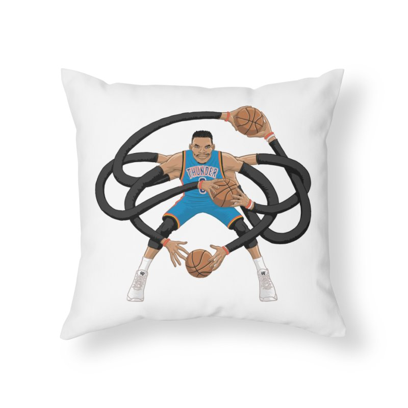 "Russell ""Mr. Triple Double"" Westbrook - road kit Home Throw Pillow by dukenny's Artist Shop"