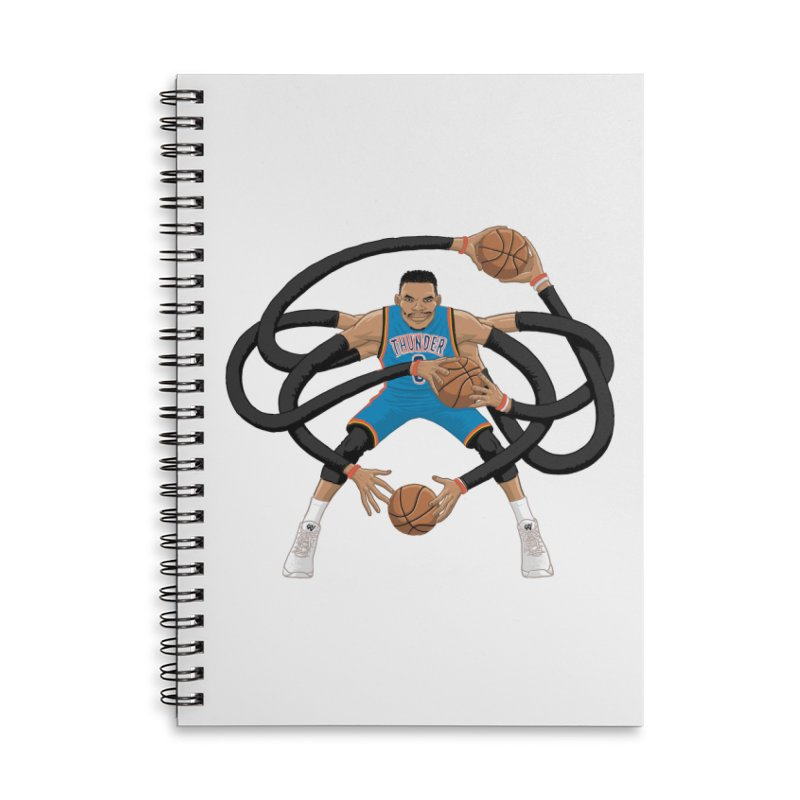 "Russell ""Mr. Triple Double"" Westbrook - road kit Accessories Lined Spiral Notebook by dukenny's Artist Shop"