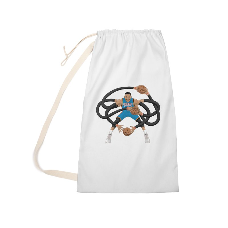 "Russell ""Mr. Triple Double"" Westbrook - road kit Accessories Laundry Bag Bag by dukenny's Artist Shop"