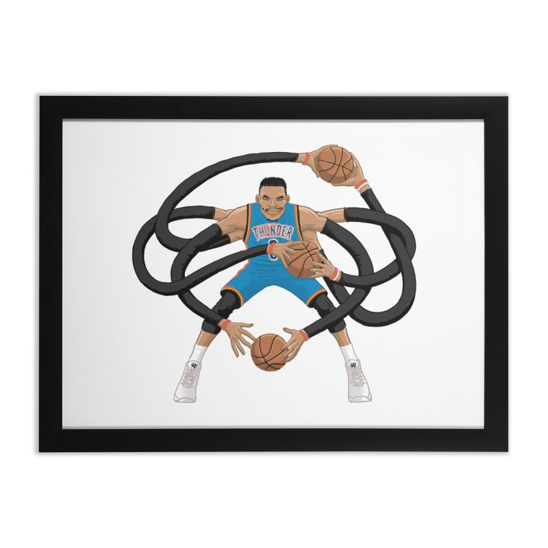 "Russell ""Mr. Triple Double"" Westbrook - road kit Home Framed Fine Art Print by dukenny's Artist Shop"
