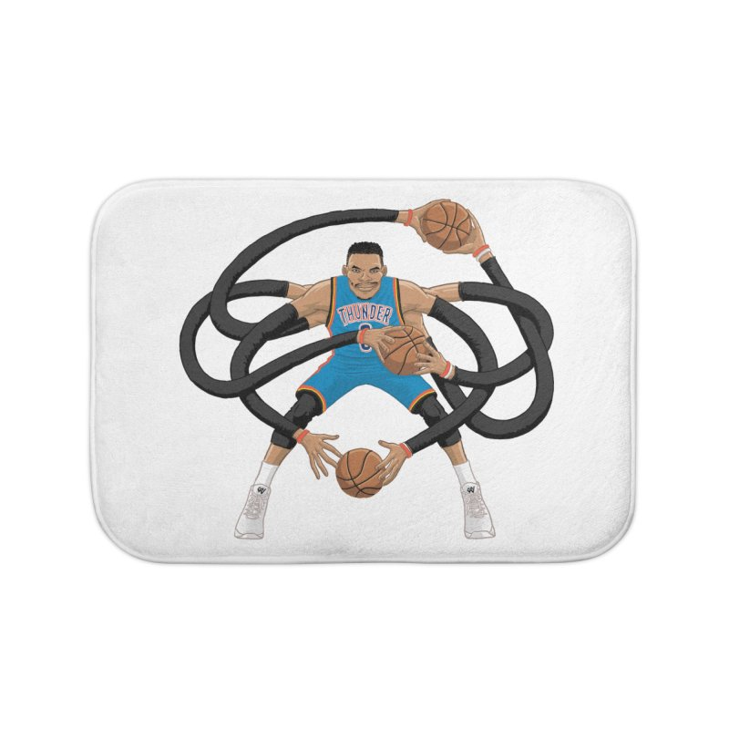 "Russell ""Mr. Triple Double"" Westbrook - road kit Home Bath Mat by dukenny's Artist Shop"