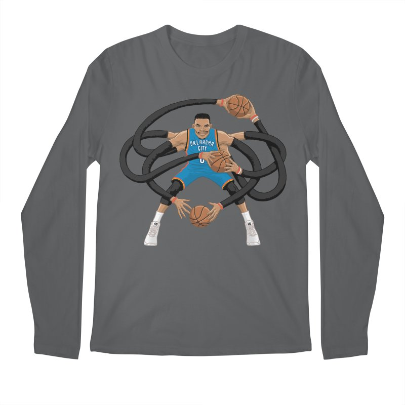 "Russell ""Mr. Triple Double"" Westbrook - road kit Men's Longsleeve T-Shirt by dukenny's Artist Shop"