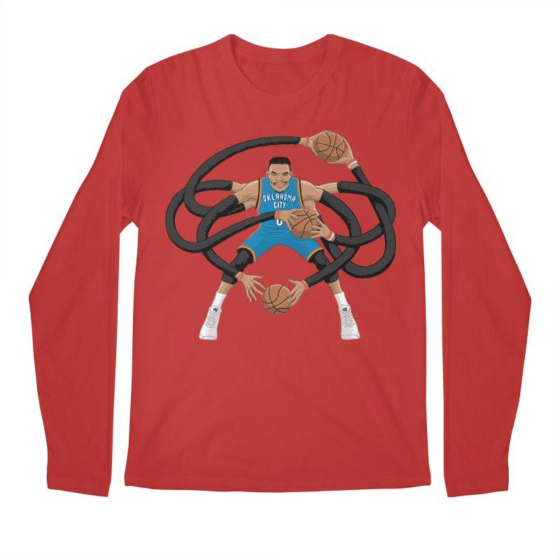"""Russell """"Mr. Triple Double"""" Westbrook - road kit Men's Longsleeve T-Shirt by dukenny's Artist Shop"""