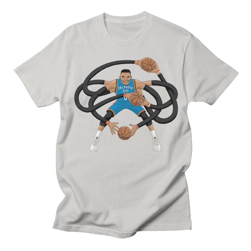 "Russell ""Mr. Triple Double"" Westbrook - road kit Men's T-Shirt by dukenny's Artist Shop"