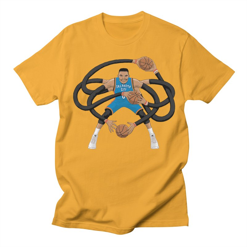 "Russell ""Mr. Triple Double"" Westbrook - road kit Men's T-Shirt by dukenny's Artist Shop"