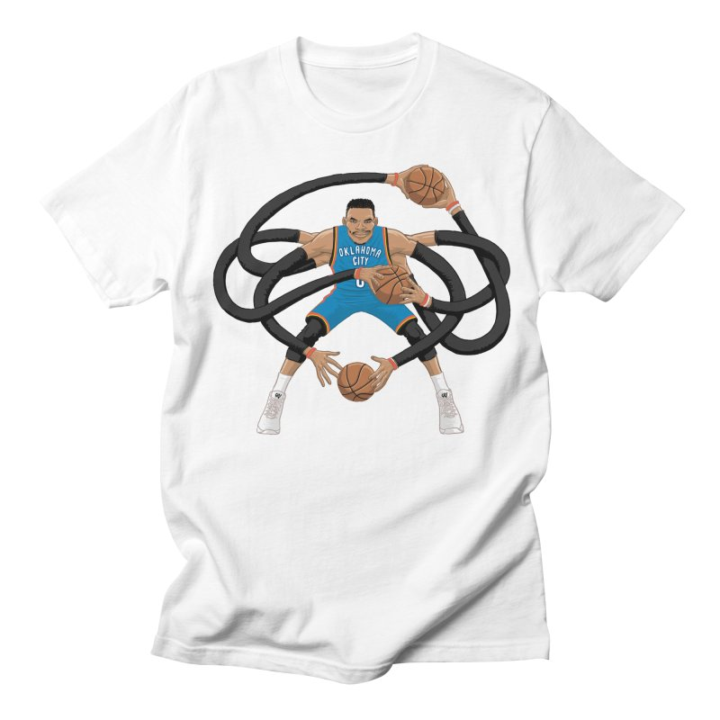 "Russell ""Mr. Triple Double"" Westbrook - road kit in Men's Regular T-Shirt White by dukenny's Artist Shop"