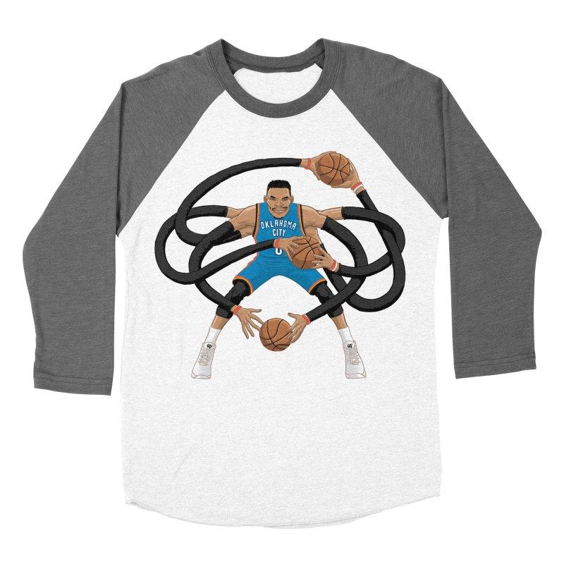 """Russell """"Mr. Triple Double"""" Westbrook - road kit Women's Longsleeve T-Shirt by dukenny's Artist Shop"""