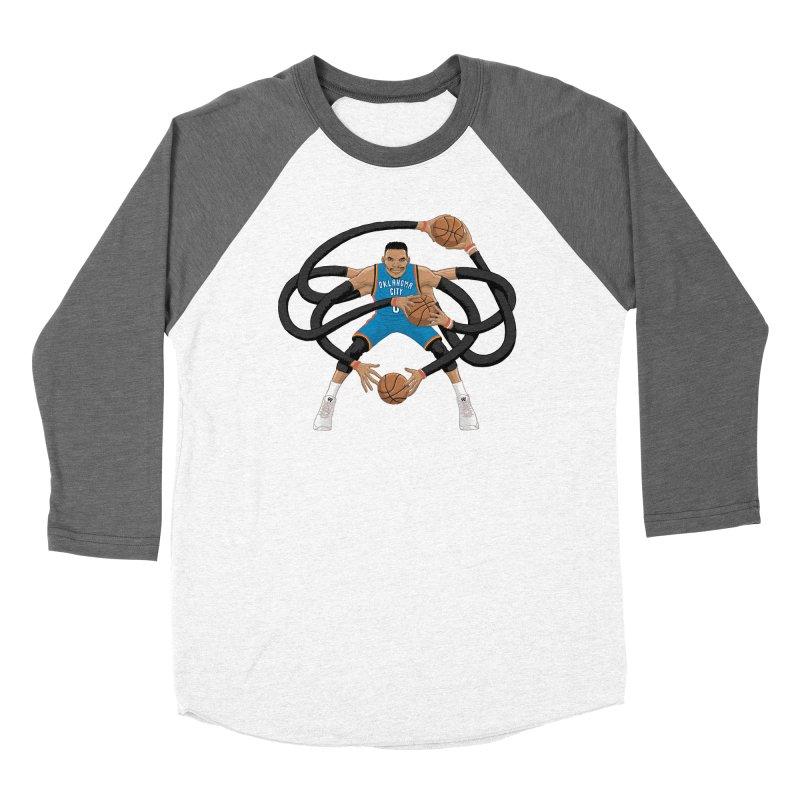 """Russell """"Mr. Triple Double"""" Westbrook - road kit Men's Baseball Triblend Longsleeve T-Shirt by dukenny's Artist Shop"""