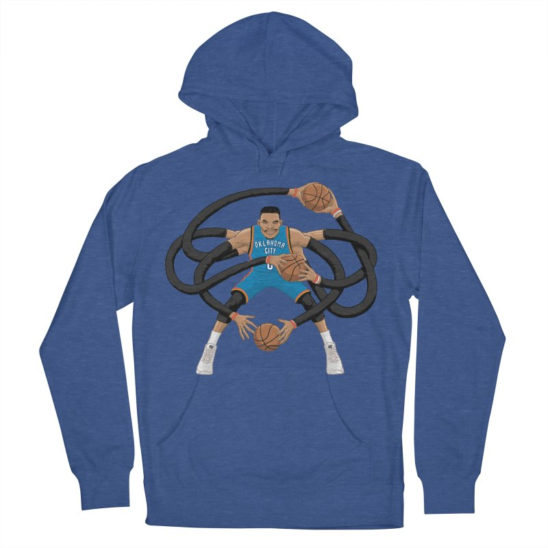 "Russell ""Mr. Triple Double"" Westbrook - road kit Women's French Terry Pullover Hoody by dukenny's Artist Shop"