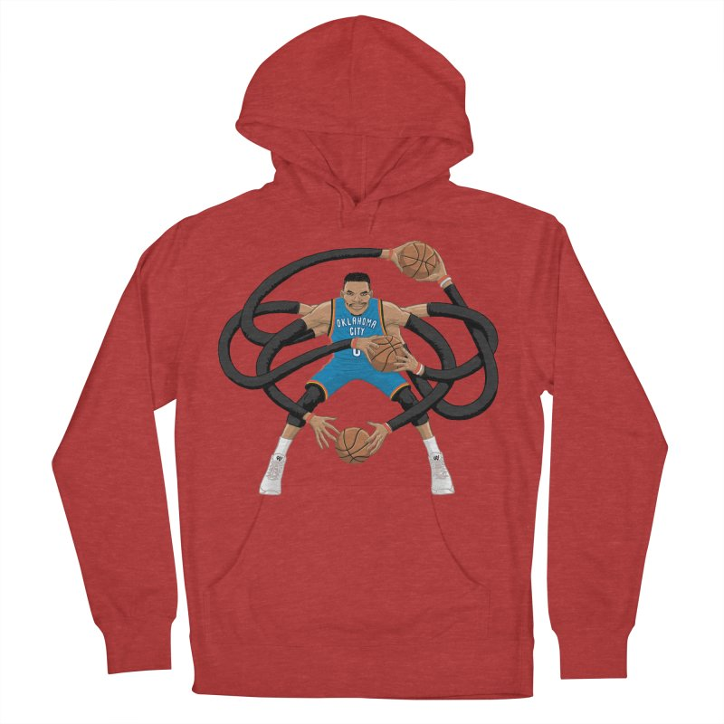 """Russell """"Mr. Triple Double"""" Westbrook - road kit Women's French Terry Pullover Hoody by dukenny's Artist Shop"""