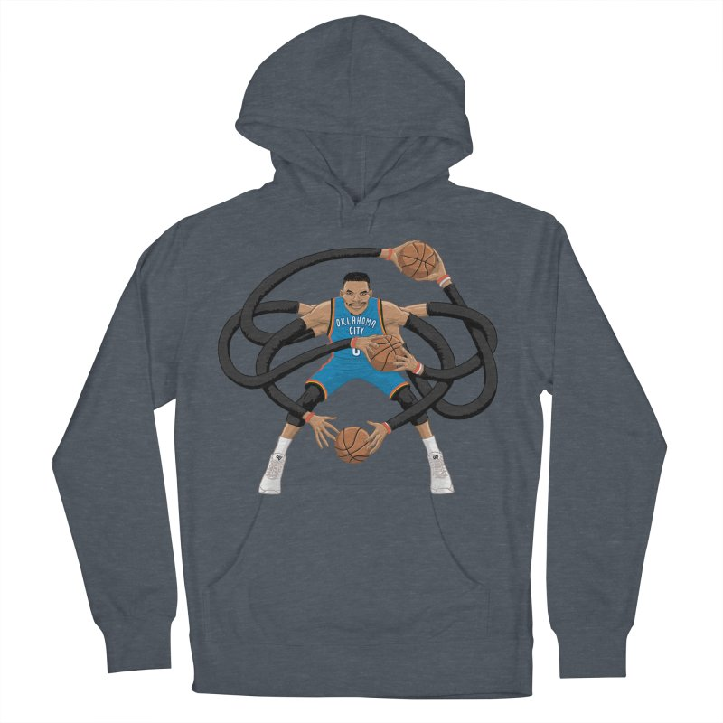 """Russell """"Mr. Triple Double"""" Westbrook - road kit Men's French Terry Pullover Hoody by dukenny's Artist Shop"""