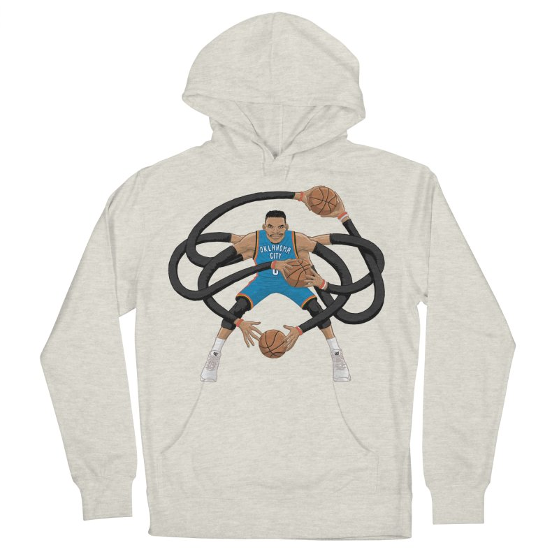 "Russell ""Mr. Triple Double"" Westbrook - road kit Men's French Terry Pullover Hoody by dukenny's Artist Shop"