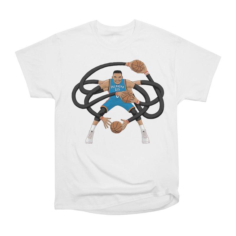 "Russell ""Mr. Triple Double"" Westbrook - road kit Men's Heavyweight T-Shirt by dukenny's Artist Shop"