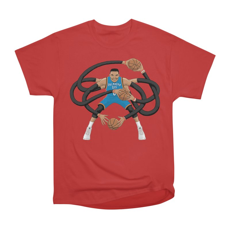 "Russell ""Mr. Triple Double"" Westbrook - road kit Men's Classic T-Shirt by dukenny's Artist Shop"