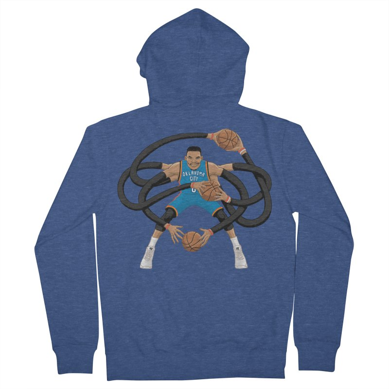 "Russell ""Mr. Triple Double"" Westbrook - road kit Women's French Terry Zip-Up Hoody by dukenny's Artist Shop"