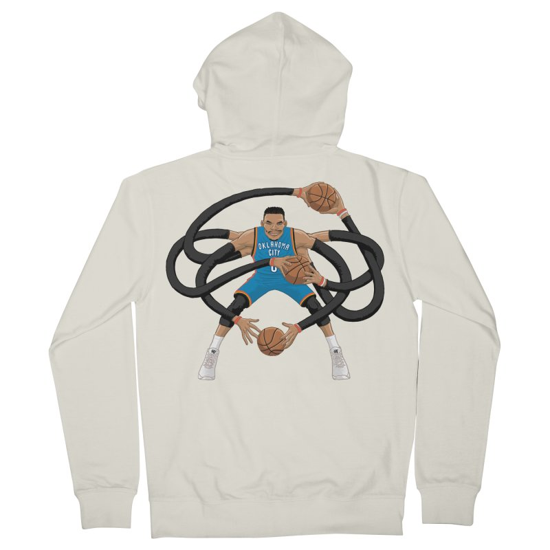 """Russell """"Mr. Triple Double"""" Westbrook - road kit Women's French Terry Zip-Up Hoody by dukenny's Artist Shop"""
