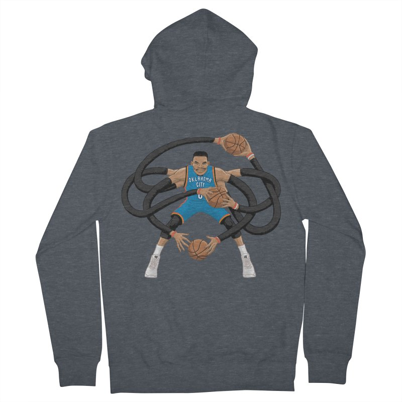"""Russell """"Mr. Triple Double"""" Westbrook - road kit Men's French Terry Zip-Up Hoody by dukenny's Artist Shop"""