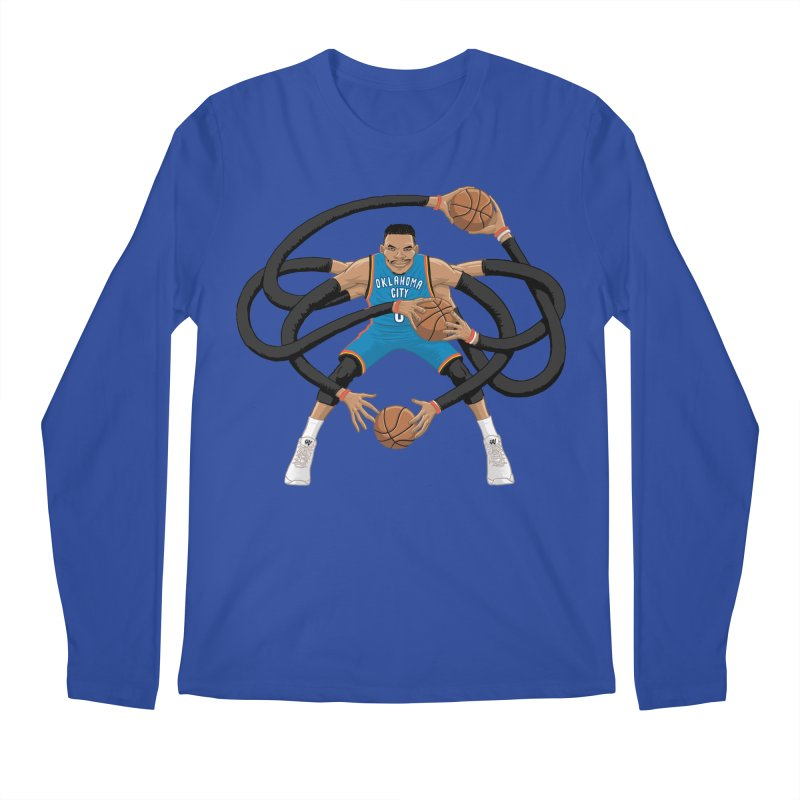 "Russell ""Mr. Triple Double"" Westbrook - road kit Men's Regular Longsleeve T-Shirt by dukenny's Artist Shop"