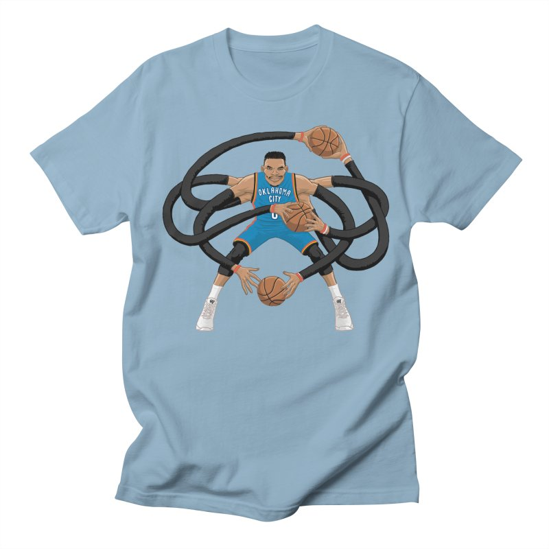"Russell ""Mr. Triple Double"" Westbrook - road kit Women's Regular Unisex T-Shirt by dukenny's Artist Shop"