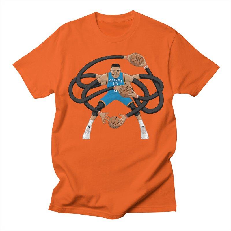 """Russell """"Mr. Triple Double"""" Westbrook - road kit Women's Regular Unisex T-Shirt by dukenny's Artist Shop"""