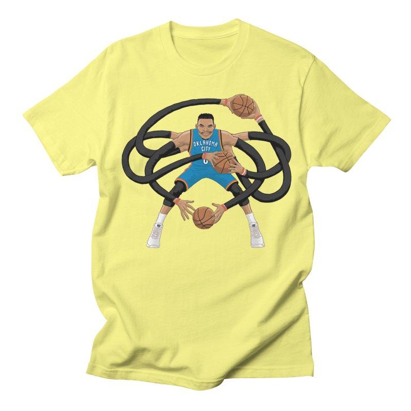 "Russell ""Mr. Triple Double"" Westbrook - road kit Men's Regular T-Shirt by dukenny's Artist Shop"