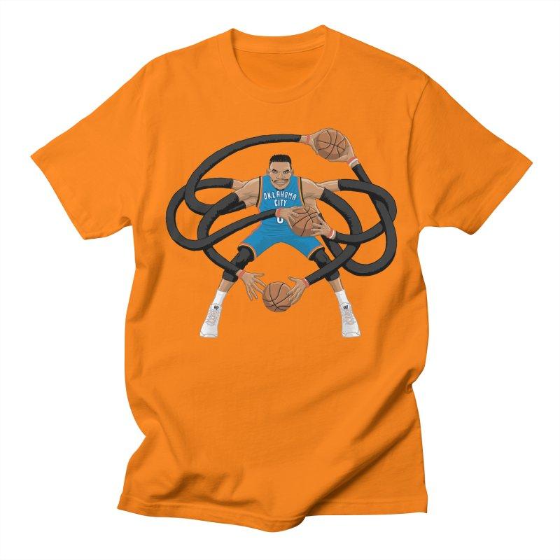 """Russell """"Mr. Triple Double"""" Westbrook - road kit Women's T-Shirt by dukenny's Artist Shop"""