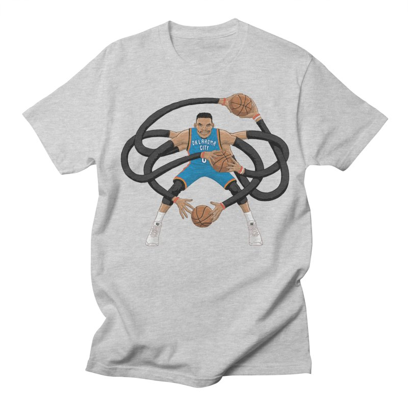 "Russell ""Mr. Triple Double"" Westbrook - road kit Women's T-Shirt by dukenny's Artist Shop"