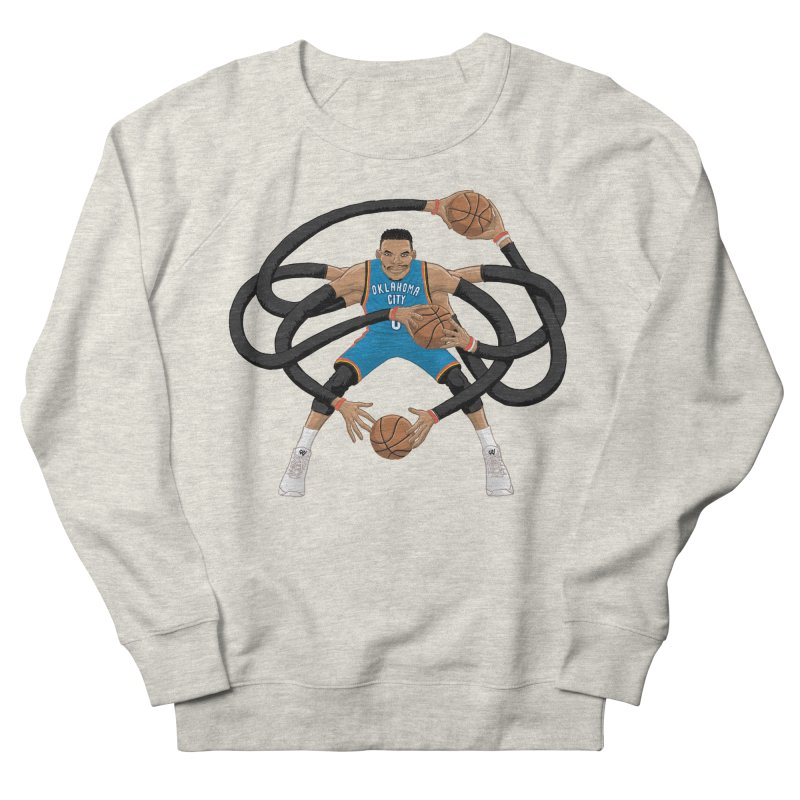"Russell ""Mr. Triple Double"" Westbrook - road kit Men's French Terry Sweatshirt by dukenny's Artist Shop"