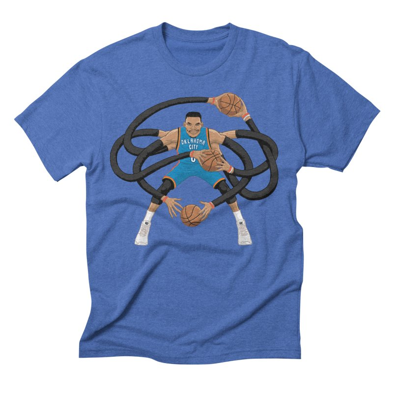 "Russell ""Mr. Triple Double"" Westbrook - road kit Men's Triblend T-Shirt by dukenny's Artist Shop"