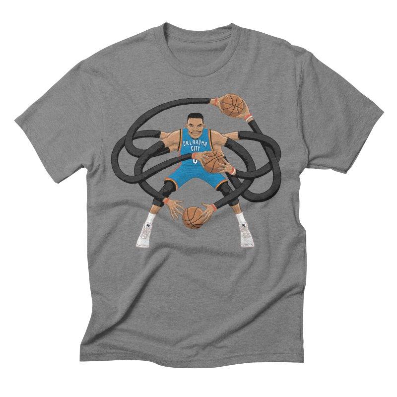 "Russell ""Mr. Triple Double"" Westbrook - road kit Men's Triblend T-Shirt by dukenny's Artist Shop"