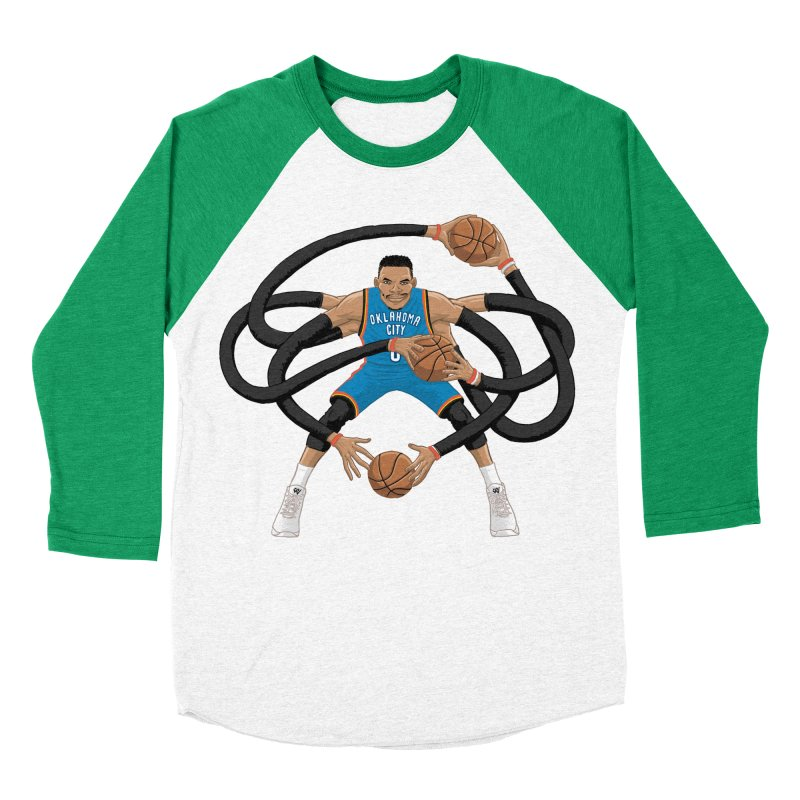 "Russell ""Mr. Triple Double"" Westbrook - road kit Women's Baseball Triblend Longsleeve T-Shirt by dukenny's Artist Shop"