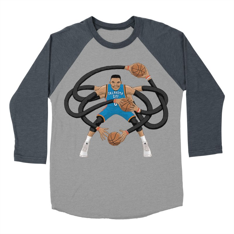 "Russell ""Mr. Triple Double"" Westbrook - road kit Men's Baseball Triblend T-Shirt by dukenny's Artist Shop"