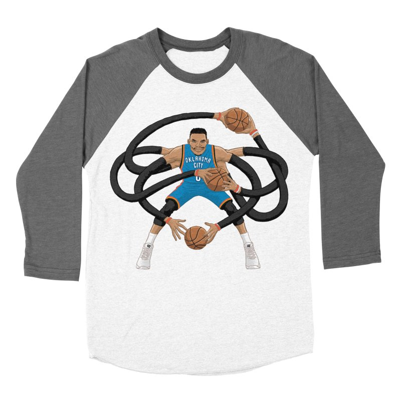 "Russell ""Mr. Triple Double"" Westbrook - road kit Men's Baseball Triblend Longsleeve T-Shirt by dukenny's Artist Shop"