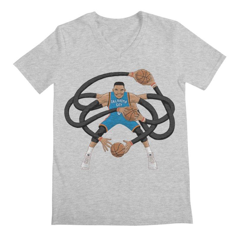 "Russell ""Mr. Triple Double"" Westbrook - road kit Men's Regular V-Neck by dukenny's Artist Shop"