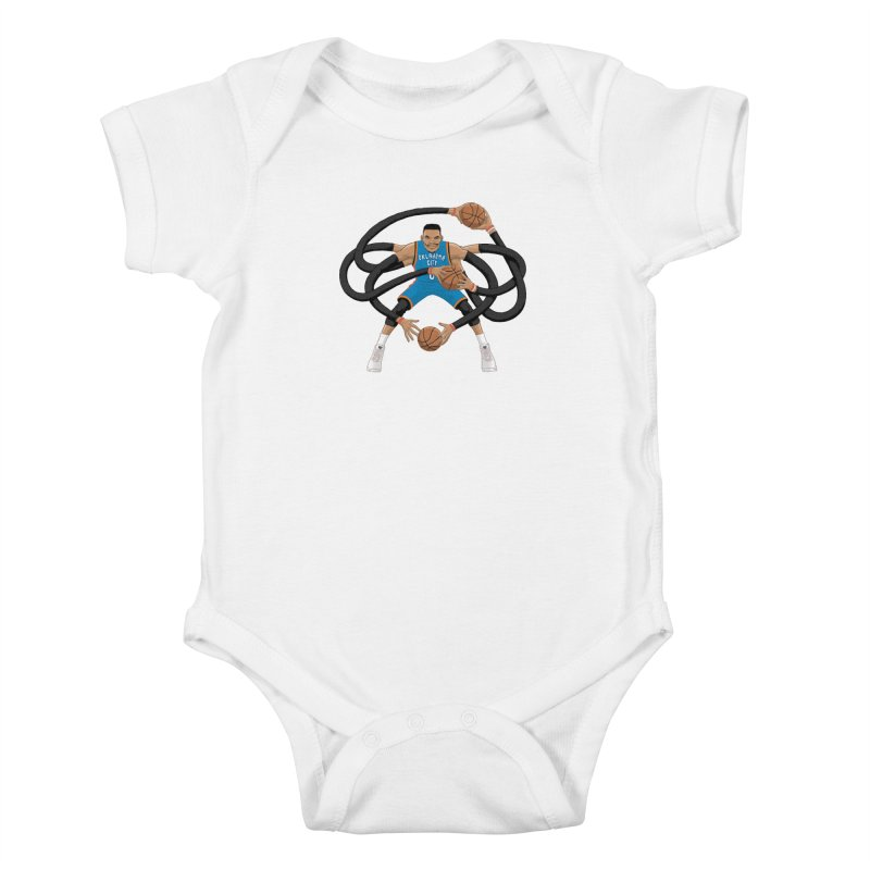 "Russell ""Mr. Triple Double"" Westbrook - road kit Kids Baby Bodysuit by dukenny's Artist Shop"
