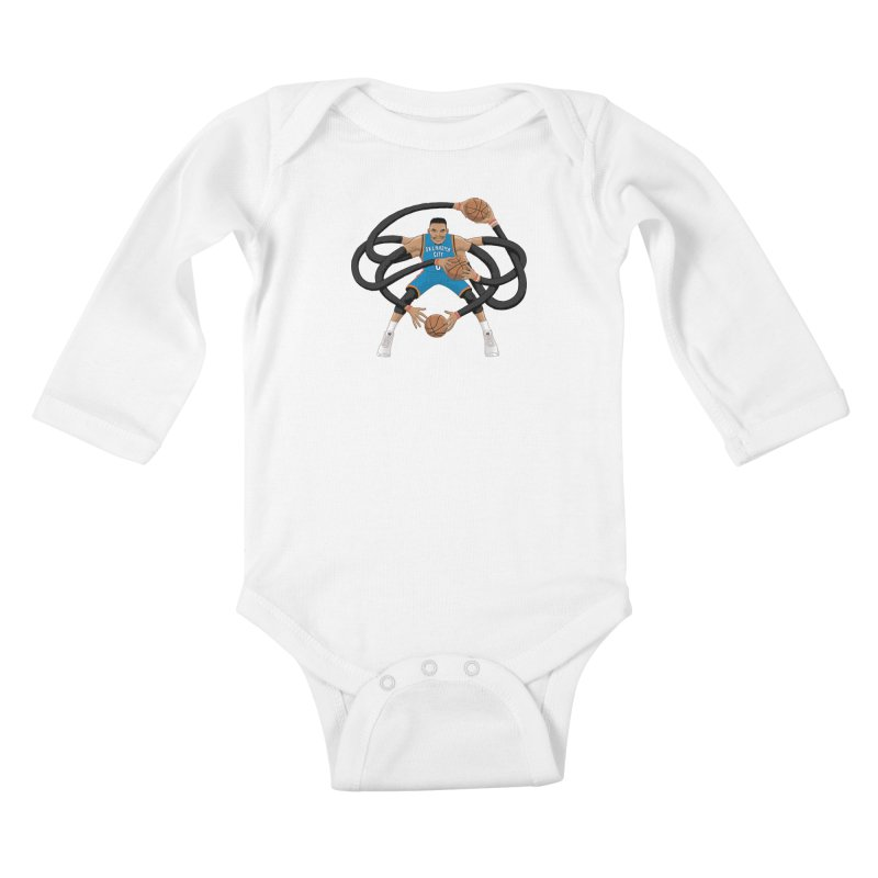 "Russell ""Mr. Triple Double"" Westbrook - road kit Kids Baby Longsleeve Bodysuit by dukenny's Artist Shop"