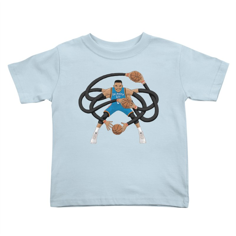 "Russell ""Mr. Triple Double"" Westbrook - road kit Kids Toddler T-Shirt by dukenny's Artist Shop"